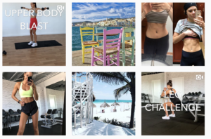 A sample of Kayla Itsines' Instagram
